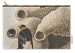 Republican Or Cliff Swallow Carry-all Pouch by John James Audubon