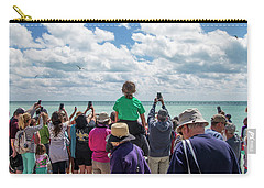 Carry-all Pouch featuring the photograph Rescued Turtle Being Released At Higgs Beach In Key West by Bob Slitzan