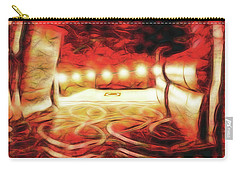 Carry-all Pouch featuring the digital art Reservations - Row C by Wendy J St Christopher