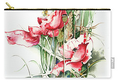 Carry-all Pouch featuring the painting Residents Of Green Fields by Anna Ewa Miarczynska