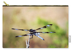 Rest Area, Dragonfly On A Branch Carry-all Pouch