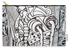 Carry-all Pouch featuring the drawing Rest In Peace Eternally - Marie Kalfala - Sierra Leone by Mudiama Kammoh