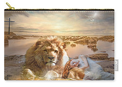 Carry-all Pouch featuring the mixed media Divine Rest by Jessica Eli