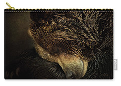 Carry-all Pouch featuring the painting Rest - Wildlife Art by Jordan Blackstone
