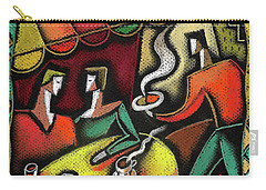 Carry-all Pouch featuring the painting Restaurant by Leon Zernitsky