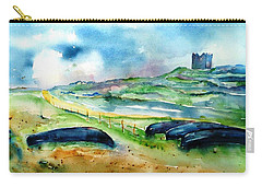 Resting Currachs On Inisheer Island Carry-all Pouch by Trudi Doyle