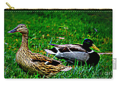 Carry-all Pouch featuring the photograph Resting Ducks by Mariola Bitner