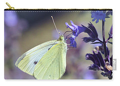 Carry-all Pouch featuring the photograph Resting In The Purple by Kerri Farley
