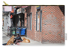 Carry-all Pouch featuring the photograph Resting On The Corner by Rob Hans