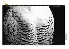 Resting Snowy Owl Carry-all Pouch by Darcy Michaelchuk