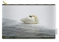 Resting Swan-signed-#1314 Carry-all Pouch
