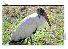Resting Wood Stork Carry-all Pouch by Carol Groenen