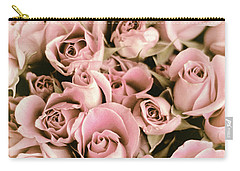 Reticent Rose Carry-all Pouch by Jessica Jenney