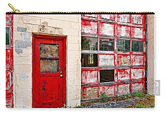 Carry-all Pouch featuring the photograph Retired Garage by Christopher Holmes
