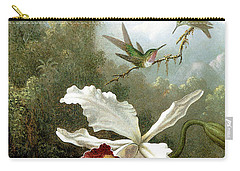 Retouched Masters - Orchid And Hummingbirds In Tropical Forest Carry-all Pouch