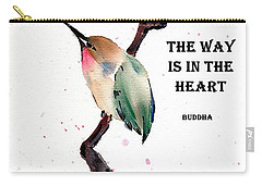 Retreat With Buddha Quote Carry-all Pouch