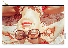 Retro 50s Beach Pinup Girl Carry-all Pouch