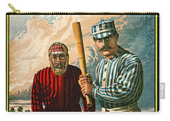 Retro Baseball Game Ad 1885 B Carry-all Pouch