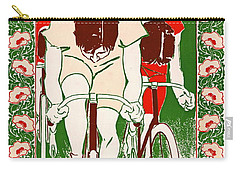Carry-all Pouch featuring the photograph Retro Bicycle Poster 1895 by Padre Art
