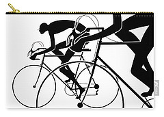 Carry-all Pouch featuring the photograph Retro Bicycle Silhouettes 2 1986 by Padre Art