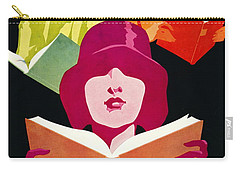 Carry-all Pouch featuring the photograph Retro Books Poster 1929 by Padre Art