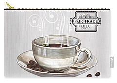 Carry-all Pouch featuring the painting Retro Coffee Shop 1 by Debbie DeWitt