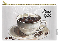 Carry-all Pouch featuring the painting Retro Coffee Shop 2 by Debbie DeWitt