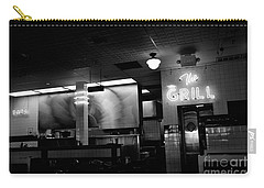 Retro Diner In Athens, Georgia -black And White Carry-all Pouch