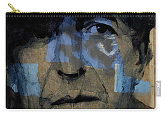 Retro- Famous Blue Raincoat  Carry-all Pouch by Paul Lovering