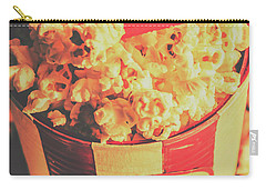 Retro Film Stub And Movie Popcorn Carry-all Pouch