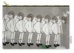Carry-all Pouch featuring the photograph Retro Girl by Art Block Collections