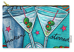 Retro Martini Carry-all Pouch by Lisa  Lorenz