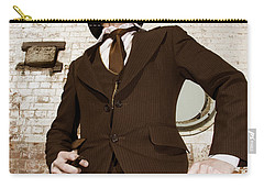 Carry-all Pouch featuring the photograph Retro Nobel Man by Jorgo Photography - Wall Art Gallery