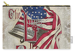 Carry-all Pouch featuring the digital art Retro Patriotic-a by Jean Plout