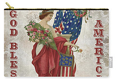 Carry-all Pouch featuring the digital art Retro Patriotic-b by Jean Plout
