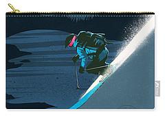 Retro Revelstoke Ski Poster Carry-all Pouch by Sassan Filsoof
