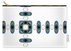 Carry-all Pouch featuring the digital art Retro Shapes 2 by Fran Riley