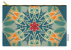 Carry-all Pouch featuring the photograph Retro Surfboard Woodcut by Mary Machare