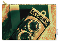 Retro Toy Camera On Photo Background Carry-all Pouch