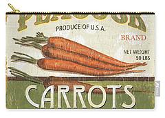 Retro Veggie Label 2 Carry-all Pouch by Debbie DeWitt