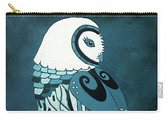 Retrospect In The Moonlight Owl Carry-all Pouch