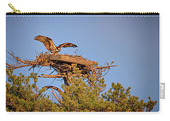 Carry-all Pouch featuring the photograph Returning To The Nest by Rick Berk