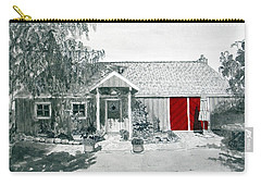 Retzlaff Winery With Red Door No. 2 Carry-all Pouch by Mike Robles