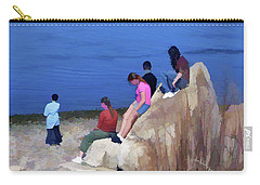 Carry-all Pouch featuring the mixed media Reverence 3 by Lynda Lehmann