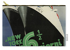 Rex, Conte Di Savoia - Italian Ocean Liners To New York - Vintage Travel Advertising Posters Carry-all Pouch