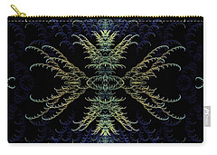 Rhapsody In Blue And Gold Carry-all Pouch by Lea Wiggins