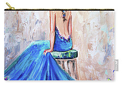 Rhapsody In Blue Carry-all Pouch by Jennifer Beaudet