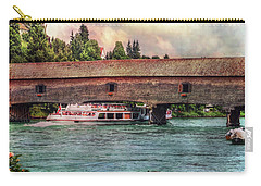 Carry-all Pouch featuring the photograph Rhine Shipping by Hanny Heim