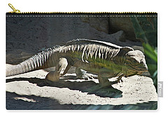 Carry-all Pouch featuring the photograph Rhinoceros Iguana by Miroslava Jurcik