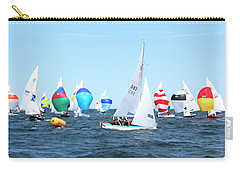 Carry-all Pouch featuring the photograph Rhodes Nationals Sailing Race Dennis Cape Cod by Charles Harden
